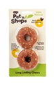 "2.5"" Rings 2/pk, Chicken pet n shape, pet, shape, lasting, chewz, rice, rawhide, rings"