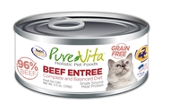 Canned Grain Free Cat Beef Entree 5 oz. 12/cs purevita, grain, free, cat