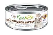 Canned Grain Free Cat Chicken Entree 5 oz. 12/cs purevita, grain, free, cat