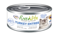 Canned Grain Free Cat Turkey Entree 5 oz. 12/cs purevita, grain, free, cat