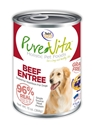 Canned Grain Free Beef Entree 13 oz. 12/cs purevita, grain, free, dog