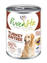 Canned Grain Free Turkey Entree 13 oz. 12/cs purevita, grain, free, dog