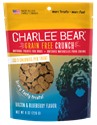 Grain Free Crunch Bacon & Blueberry, 8 oz. charlee, bear, grain, free, bacon, blueberry, dog, treat