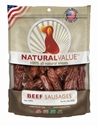 Natural Value Beef Sausages 14 oz. loving, pets, natural, value, beef, sausages