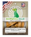 Natural Value Chicken Dental Sticks 3 oz., 10/pk loving, pets, natural, value, chicken, dental, sticks