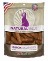 Natural Value Duck Sausages 14 oz. loving, pets, natural, value, duck, sausages