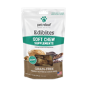 Grain-Free Soft Chew Edibites Peanut Butter & Carob Swirl, 7.5 oz. pet, releaf, relief, cbd, hemp, oil, edibites, soft, chews, peanut, butter, pb, carob, treats, dog, calming, anxiety